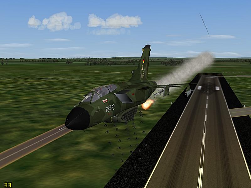 Luftwaffe MW-1 unleashes on a runway