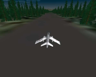 Primitive airfield with Stary Pines