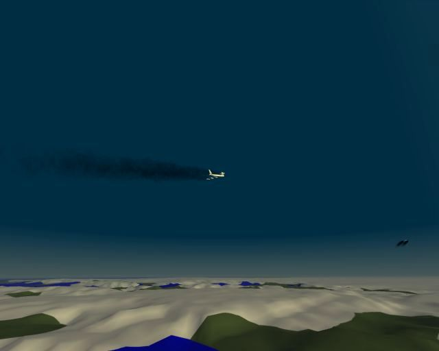 B-52s rising out of blank test terrain, Greenland.