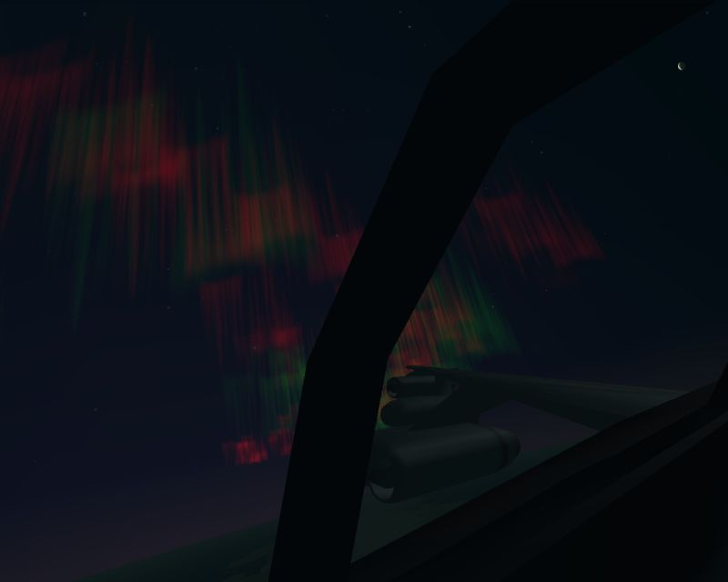 Experimental Aurora. B-47 crossing the ring of fire.