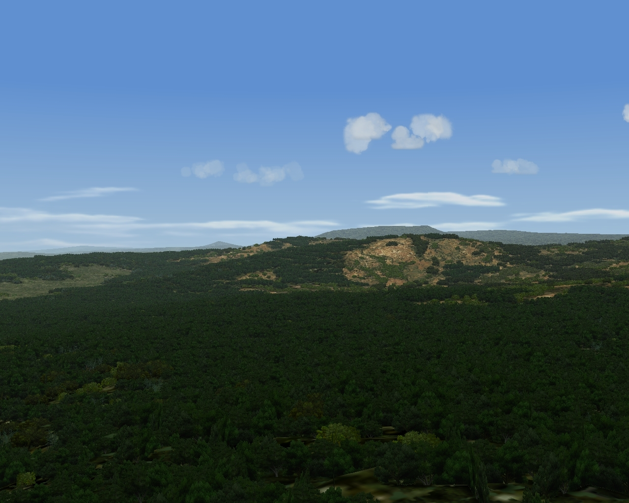 Madagascar jungle, sparse rocks coverage in the background