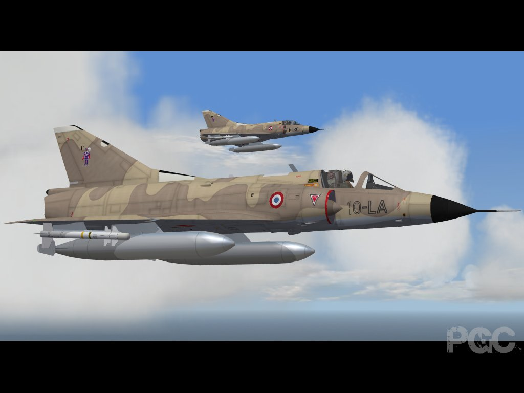 2 mirage IIIC of the 2/10 Vexin based in Djibouti