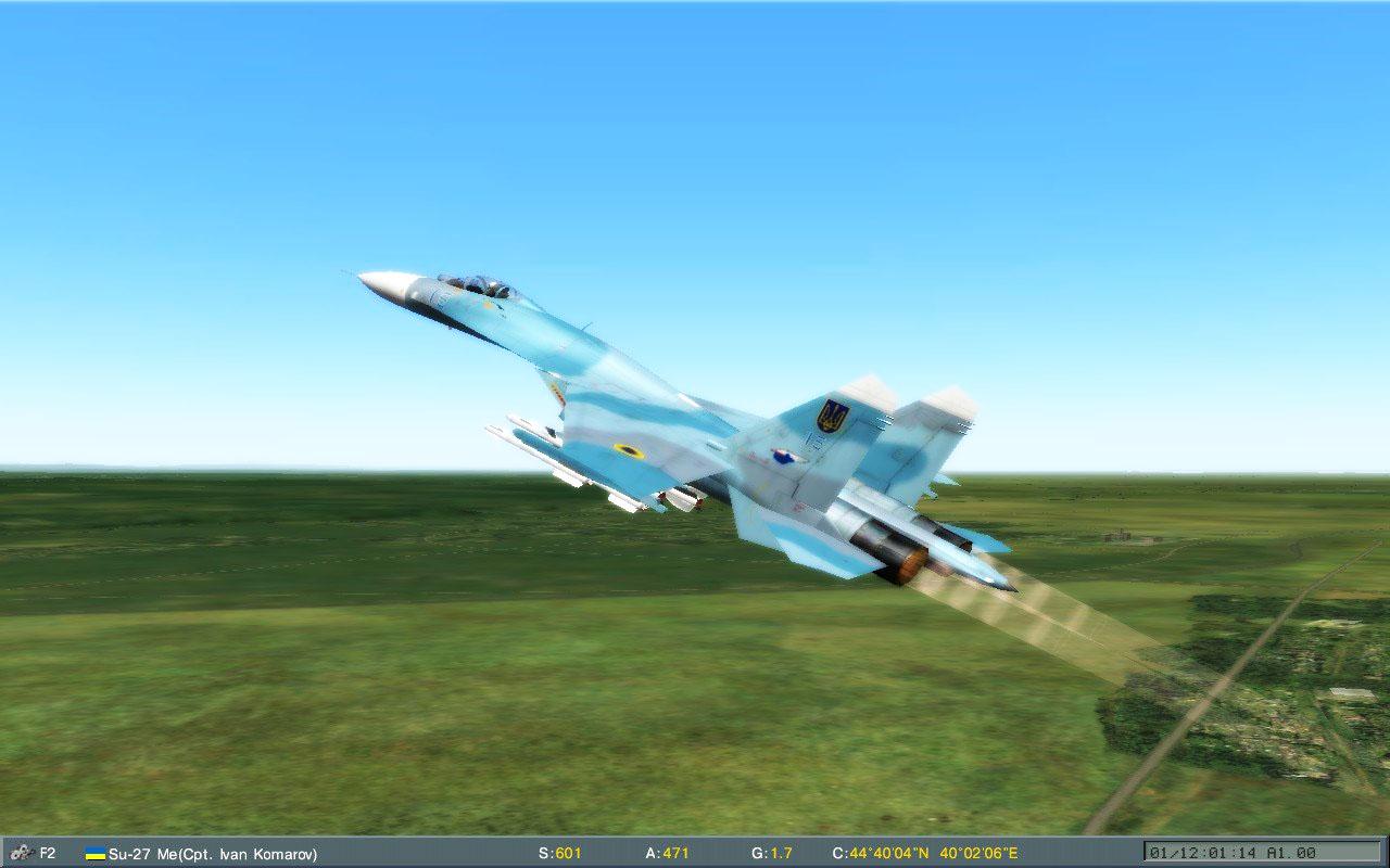 Su-27 Vinnitsa 78 SQ Climb