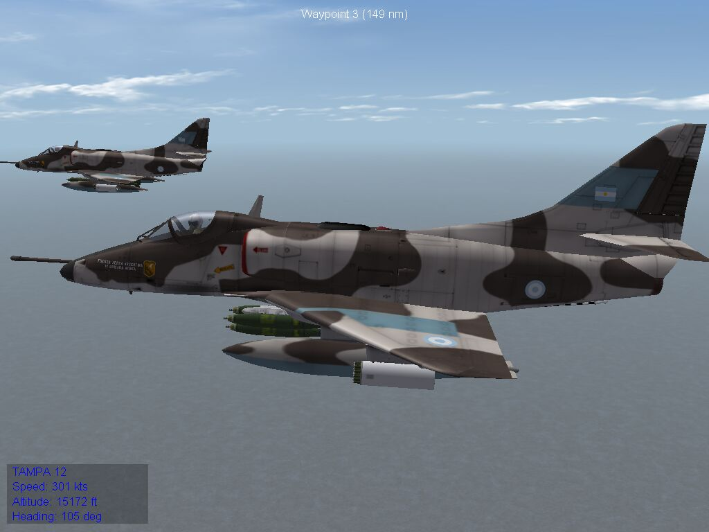 A-4P Skyhawk - Fuerza Aerea Argentina, 1982