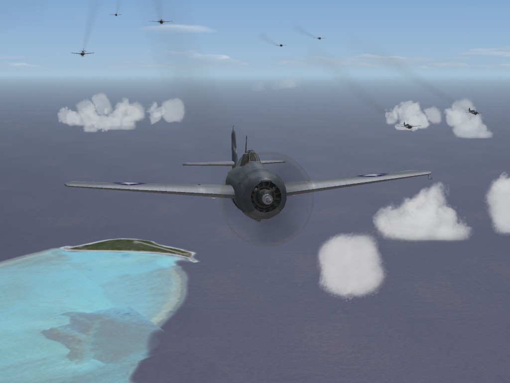 Wildcats over Kure Atoll near Midway Islands - Strike