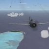 Wildcats over Kure Atoll near Midway Islands