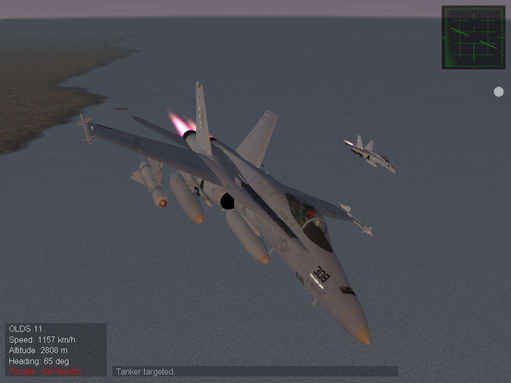 F/A-18 over Libya