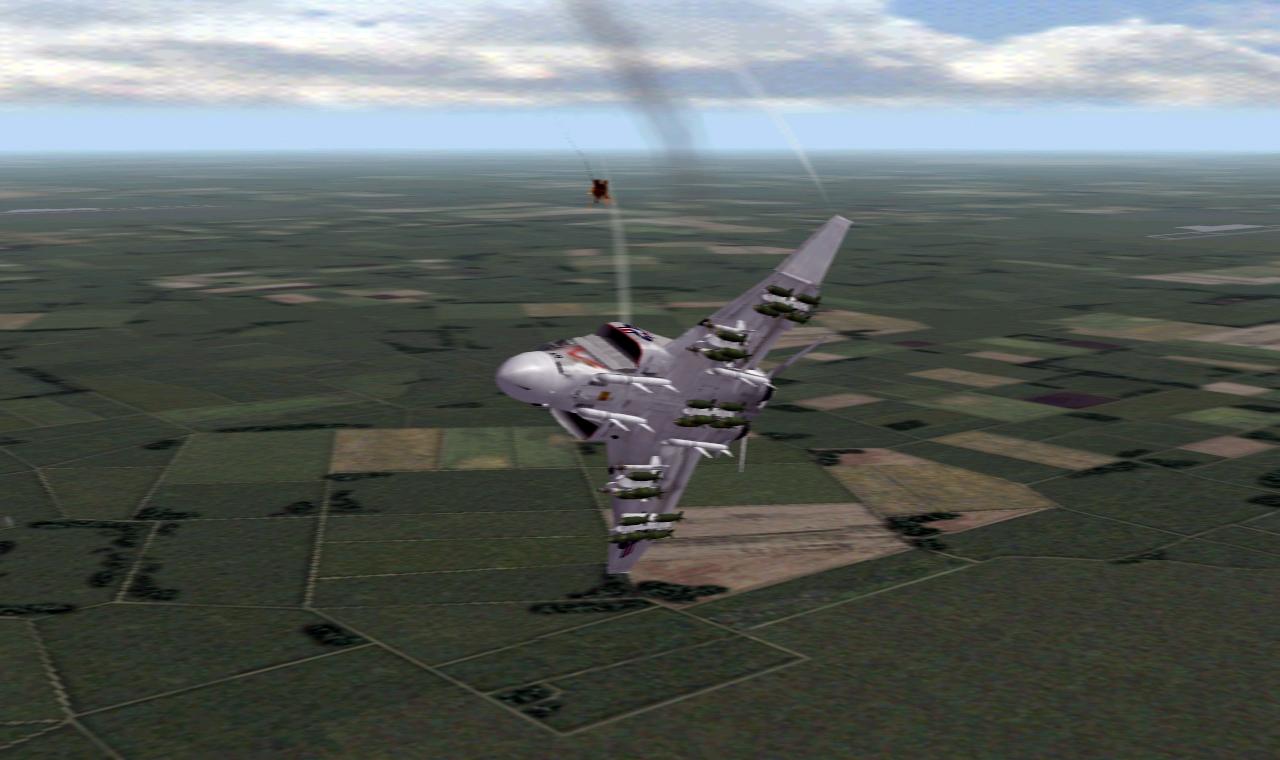 F-4J Dodging Flak