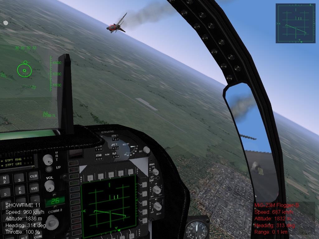 Hornet vs. MIG 23