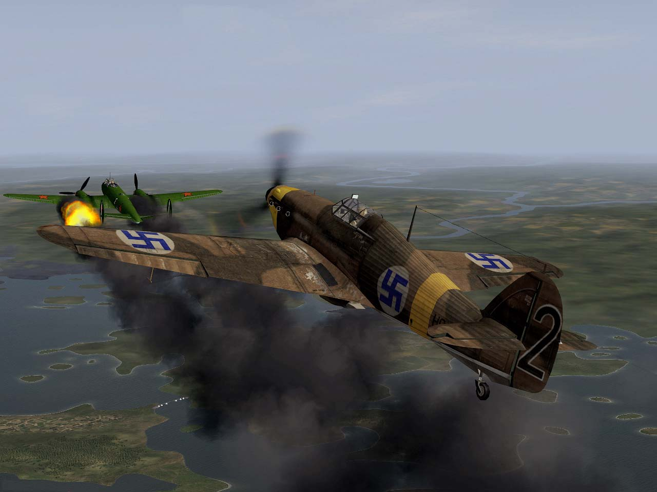 Hurricane vs Pe-2.jpg