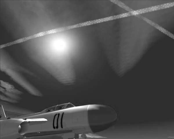Modernistic Surrealism, Yak-25, Black n White