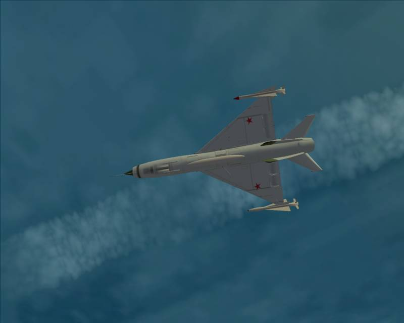 InSky J-8 mutant molded to MiG Ye-152M with lindr R-4 missil