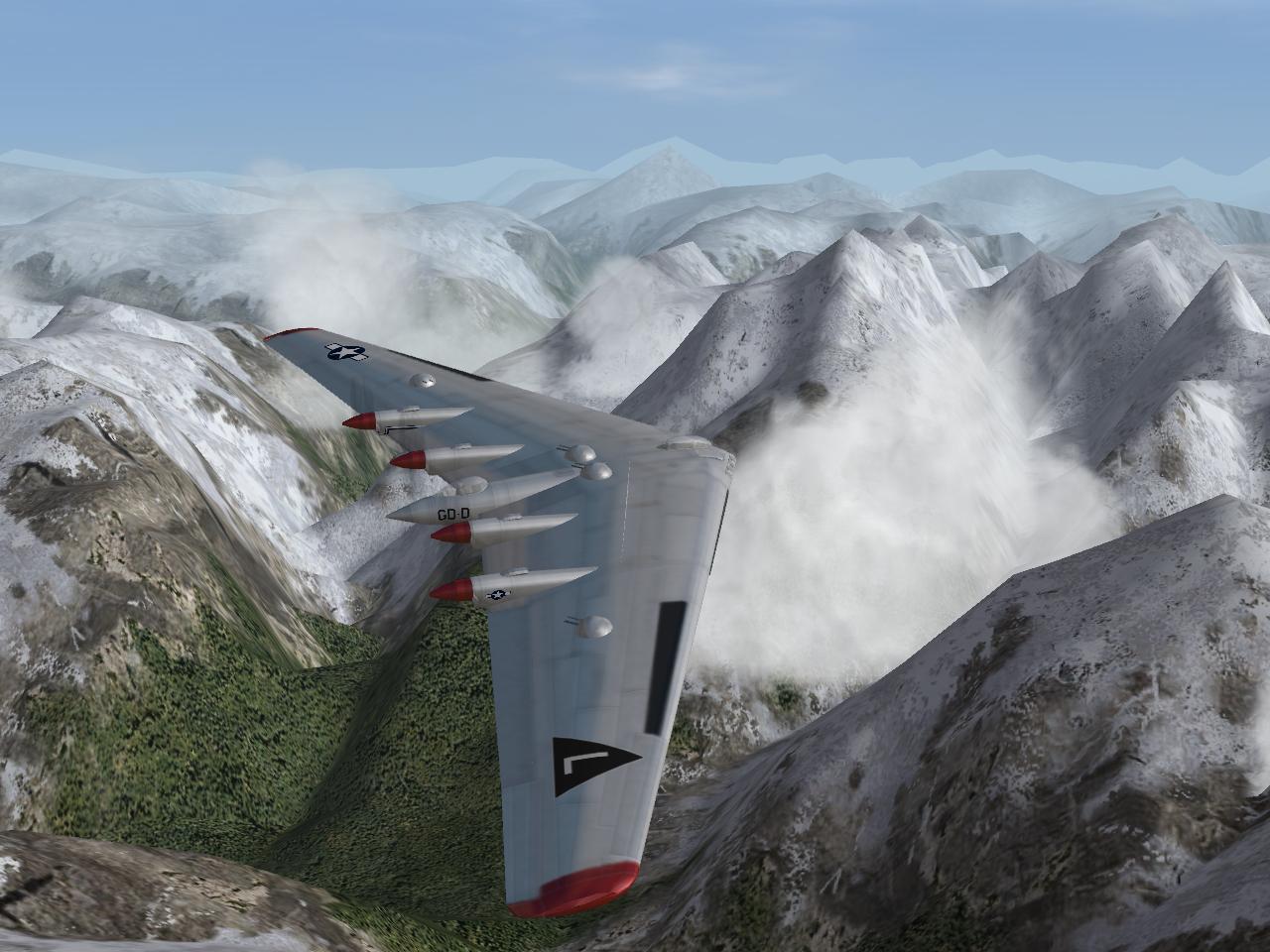 XB-35 over Mountain Thaw
