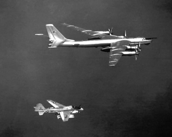 KA-6D intercepting a TU-95D Bear