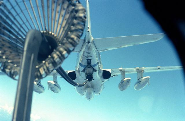 Business end of a KA-6D from inside an A-6E