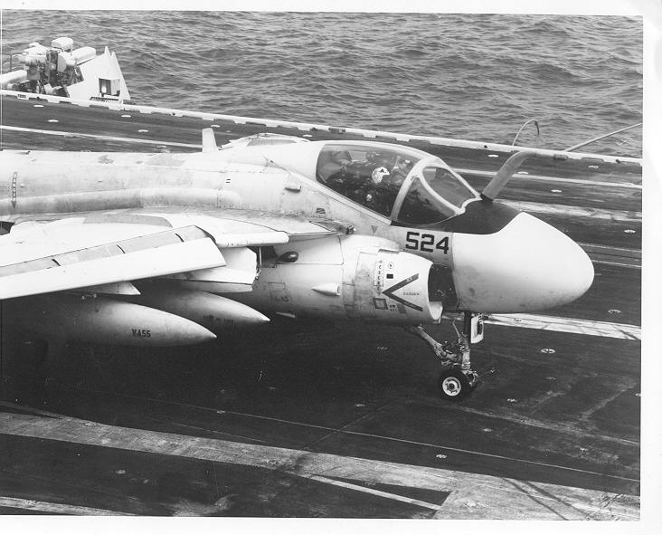 KA-6D of VA-55 onboard the USS Coral Sea