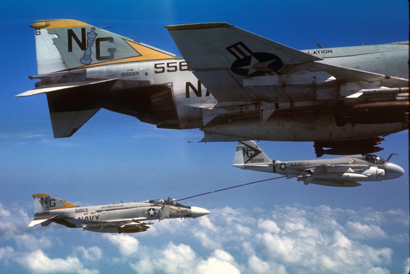 VA-165 KA-65 and VF-92 F-4J's circa 1972