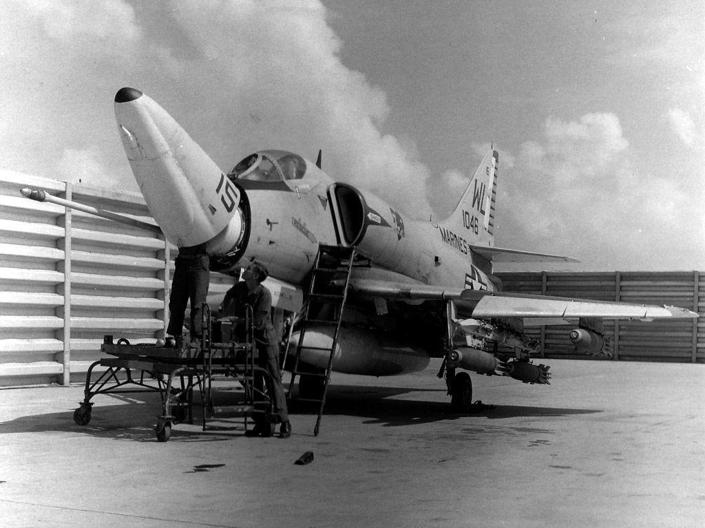 USMC A-4E at Da Nang circa 1967
