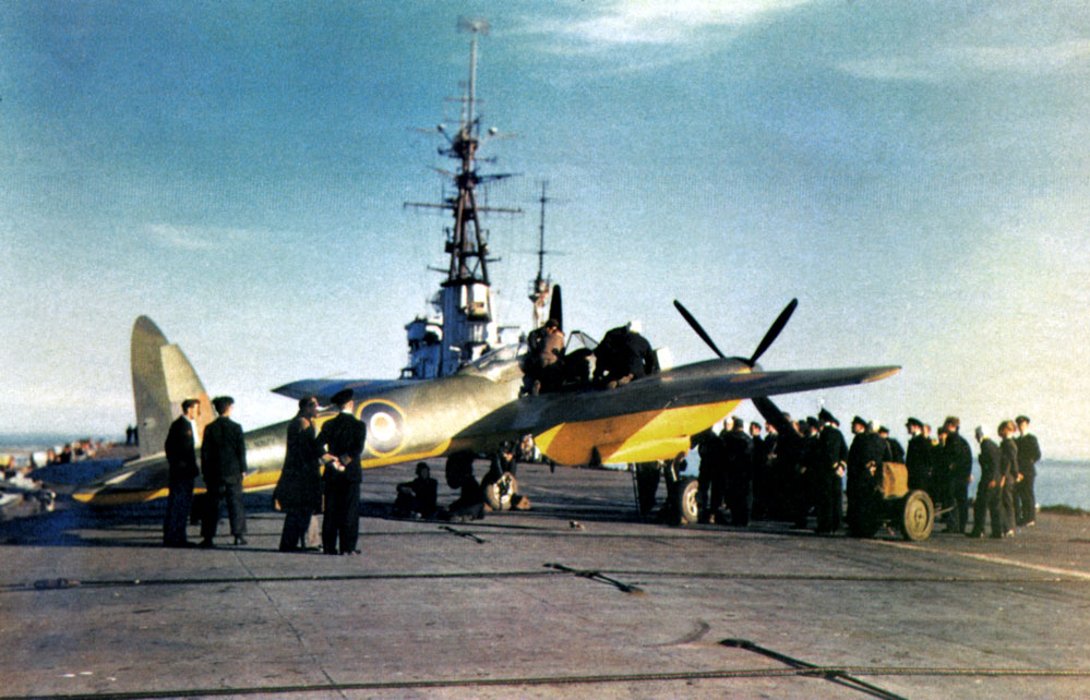 Sea Hornet during testing