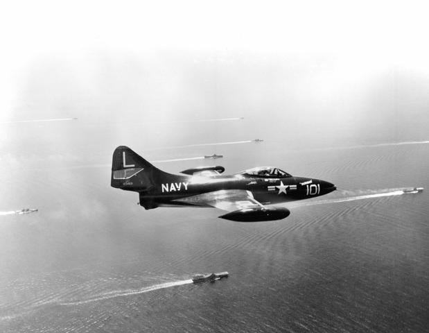F9F-2 Capping Task Force 77 off Korea