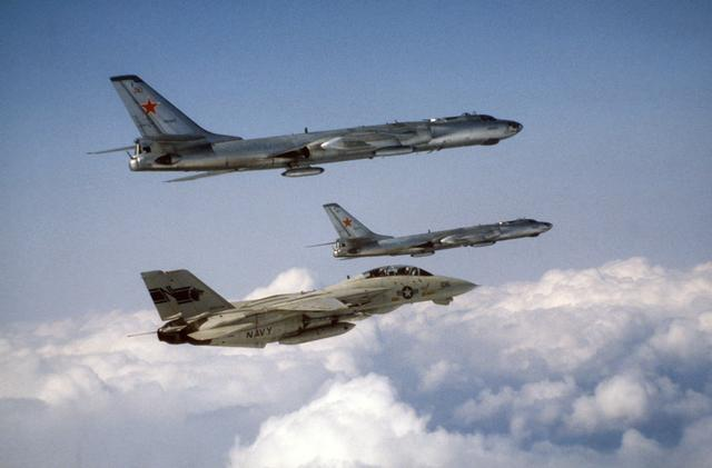 F-14A intercepting Tu-16 Badger F's