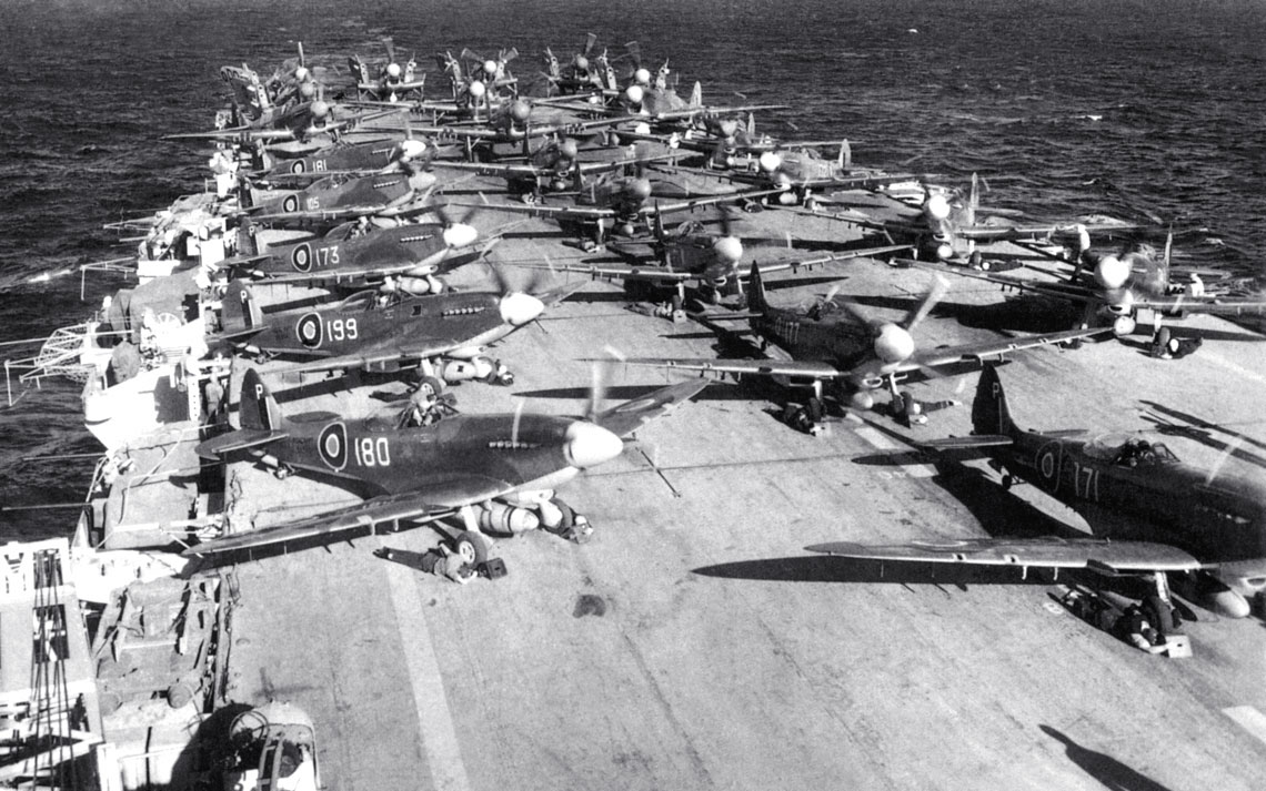 RN Seafires prior to launch