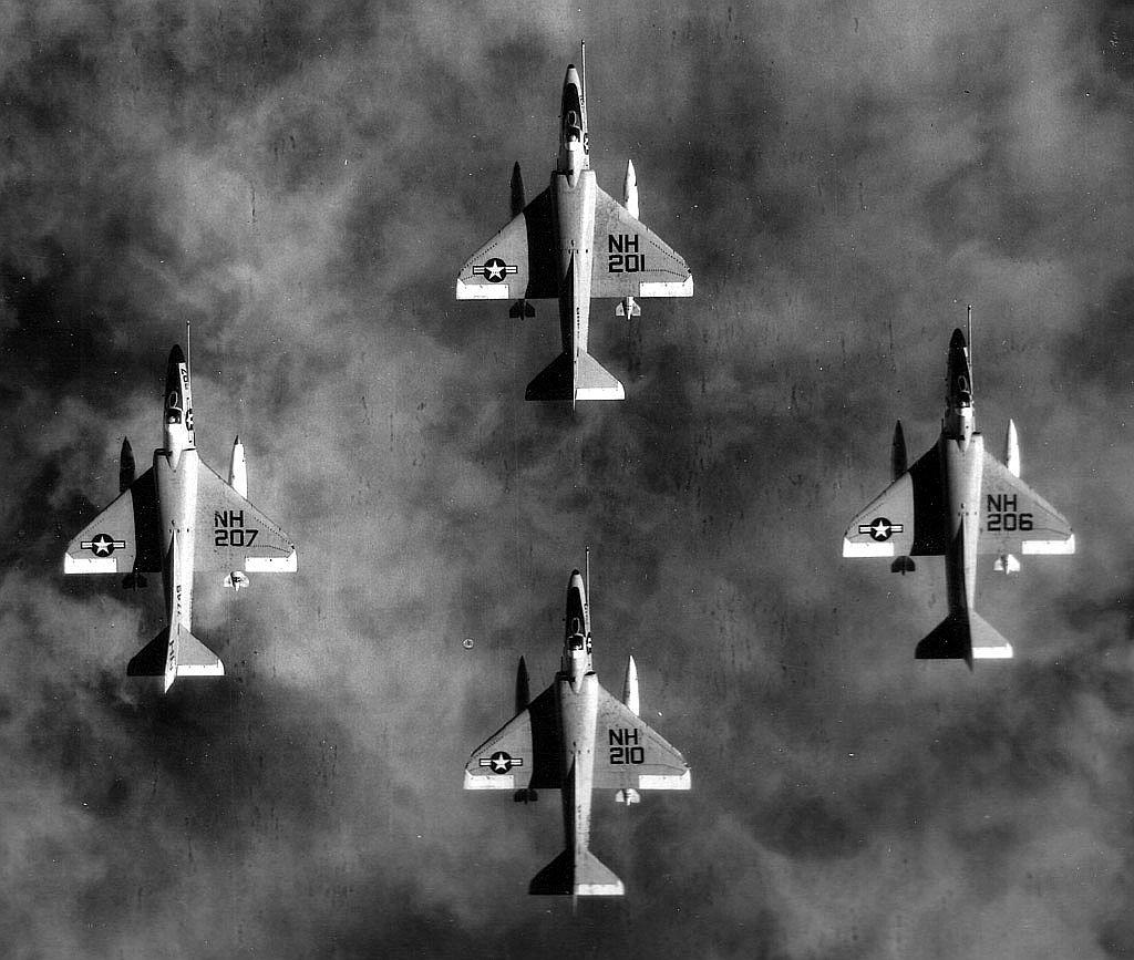 Diamond formation fo A-4E Skyhawks