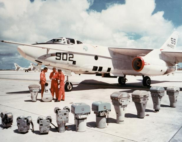 RA-3D and its 3 man crew prior to a launch.