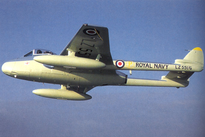 A Sea Vampire in Royal Navy Colors