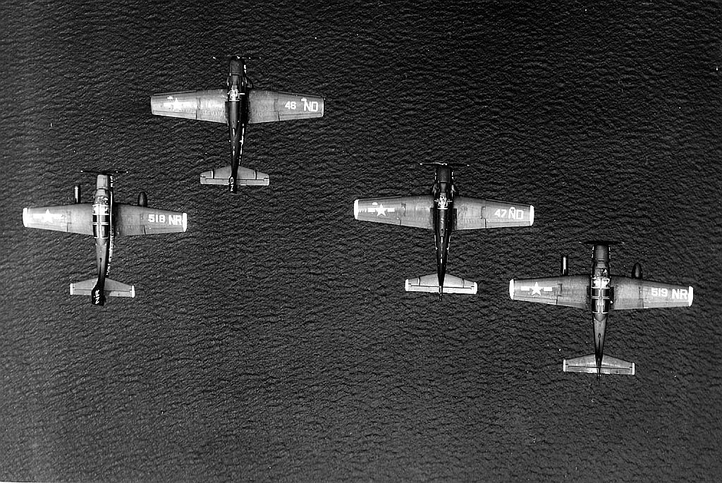 Echelon left of A-1E Skyraiders