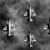 Diamond formation fo A-4E Skyhawks