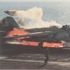 KA-6D on fire on the catapult