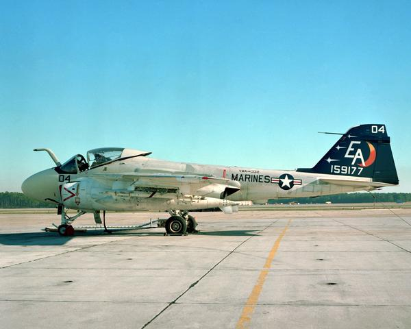 A-6A of VMA-332 on the ramp at MCAS Cherry Point