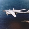 TU-95 Bear D intercepted by a F-14A of VF-154