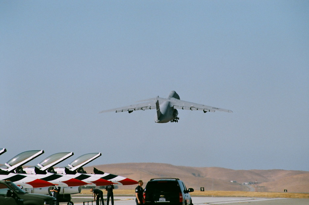 C-5 and Tbirds Travis AFB 2008