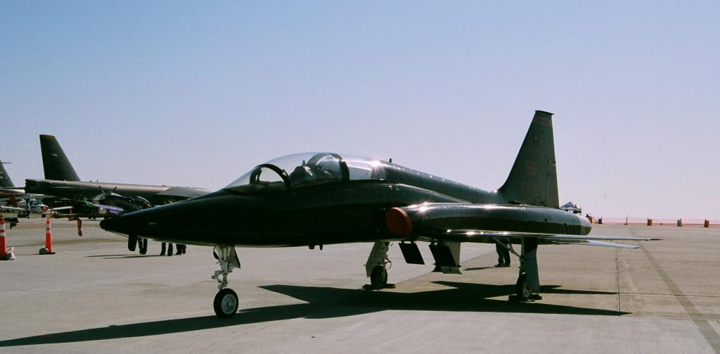 Black T-38 Travis AFB 2008