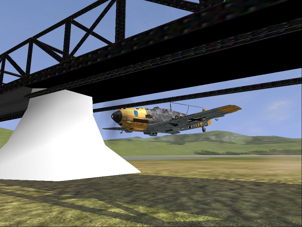 Bf-109 Under Bridge