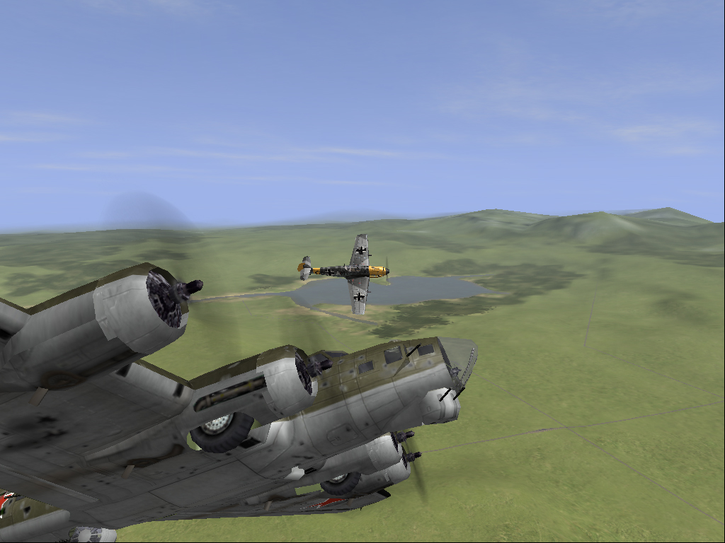 Me attacking a B-17
