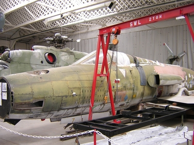 F105 in restoration at Duxford