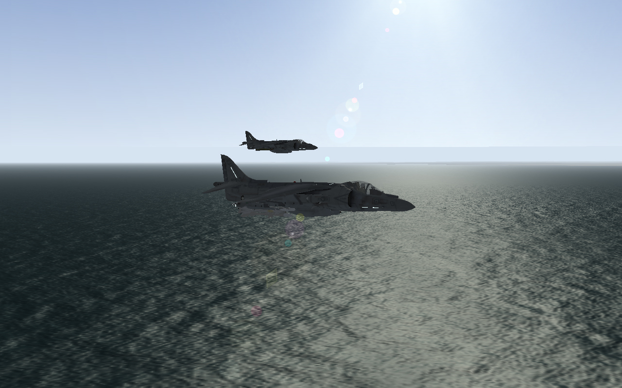 AV-8Bs on an anti-shipping mission.