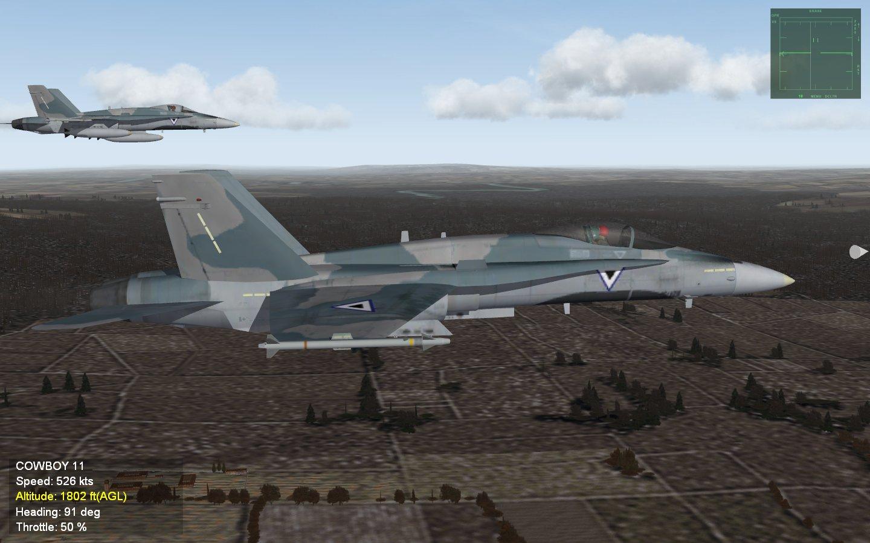 Botswana Defense Force F-18A