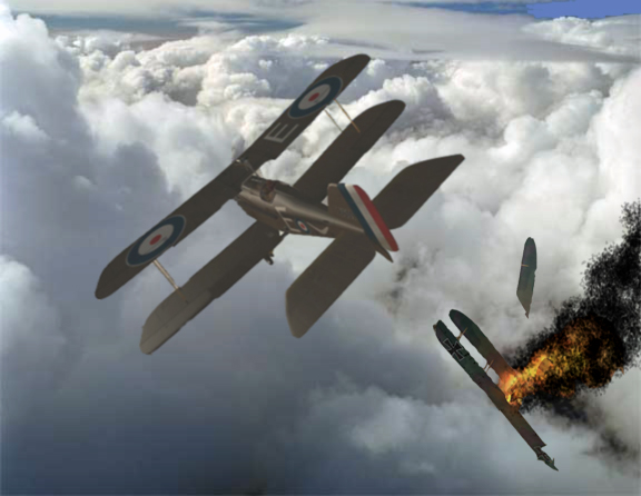 SE5a Takes down German Two Seater