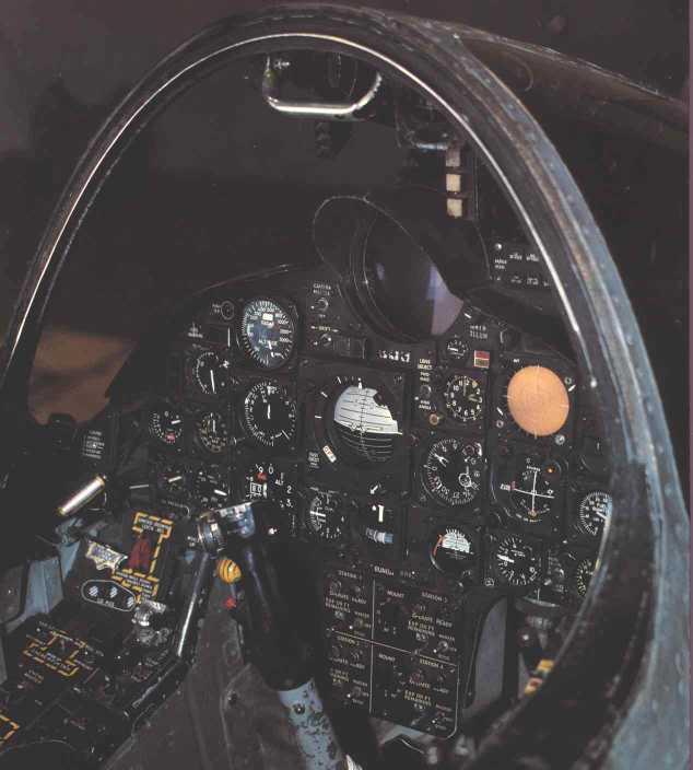 F-8 Crusader cocpit
