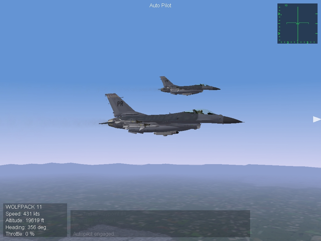 F 16 and his wingman