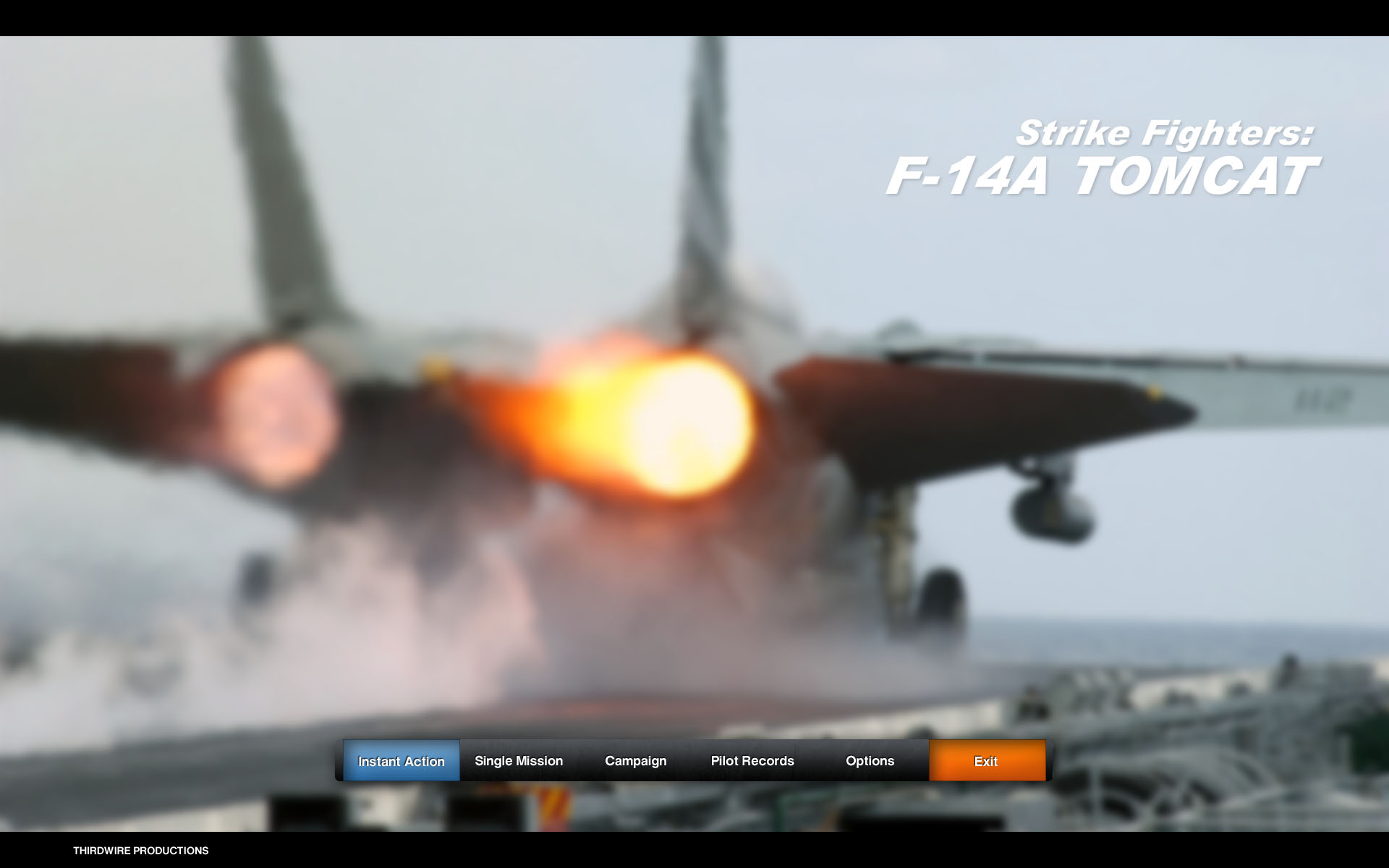 Strike Fighters: F-14A Tomcat - Mainscreen