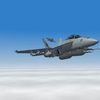 Cruising above the clouds in my RAAF F/A-18F Super Hornet.