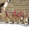 Jordanian pipers in a Roman theater