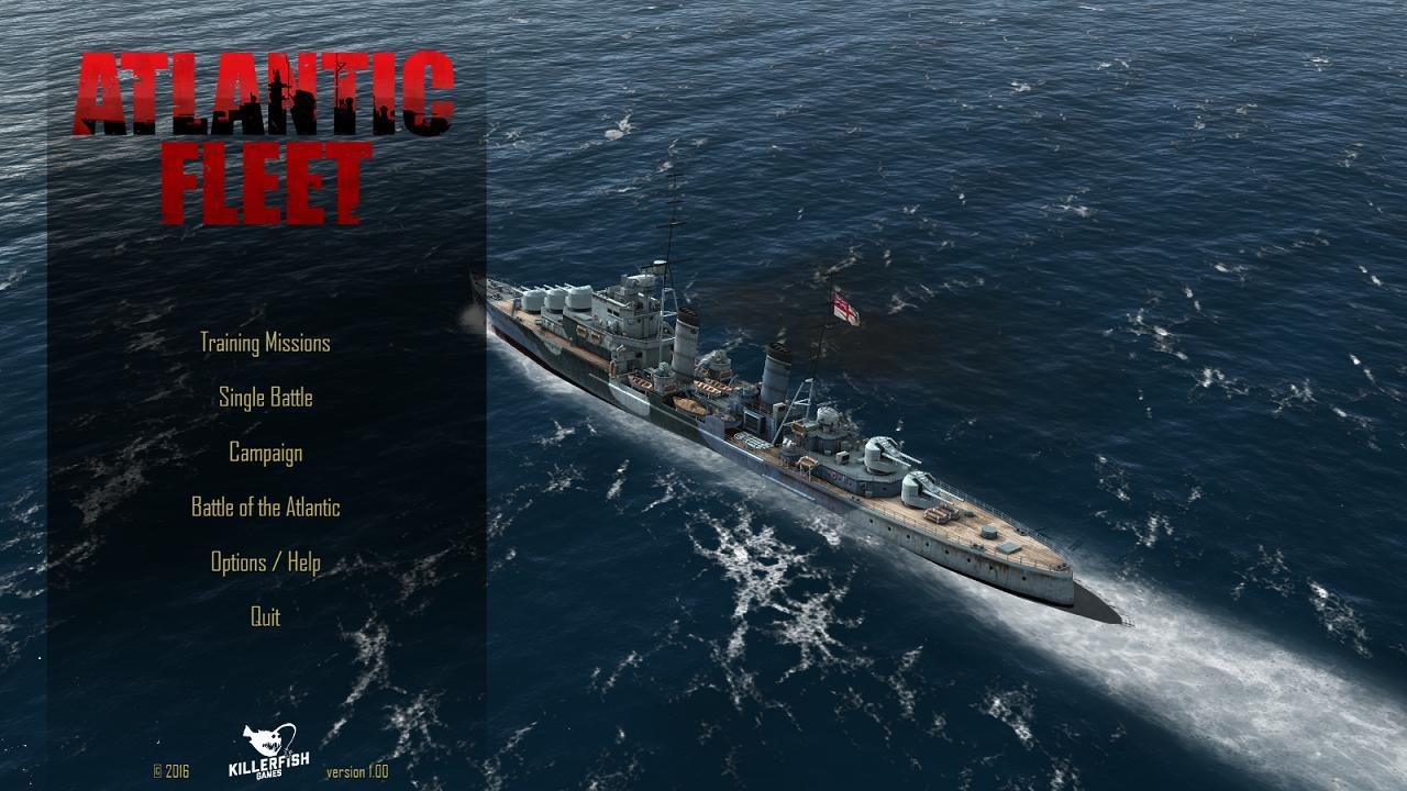 Atlantic Fleet main menu - Dido class AA cruiser