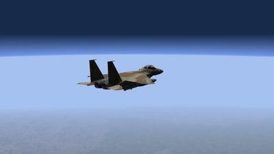 F15 sobre Israel