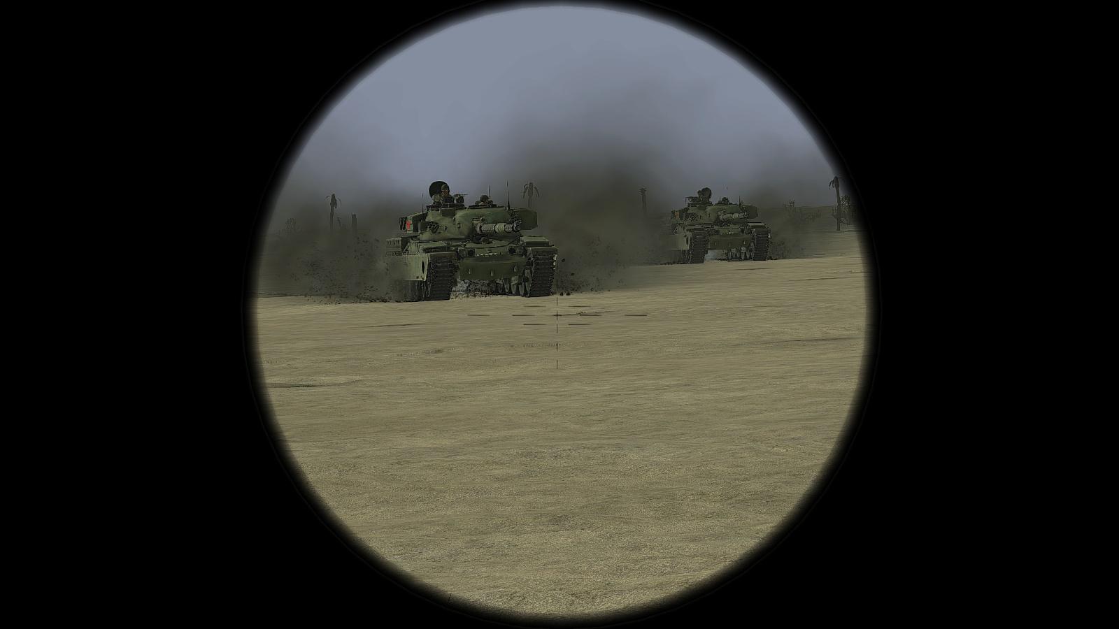 Steel Armor Blaze of War - Chieftains in M60 gunner's sight